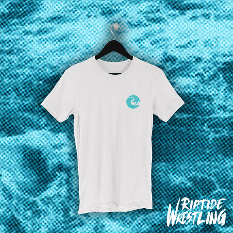 RIPTIDE Essentials Unisex Tee White - Pins & Knuckles Wrestling Merch United Kingdom
