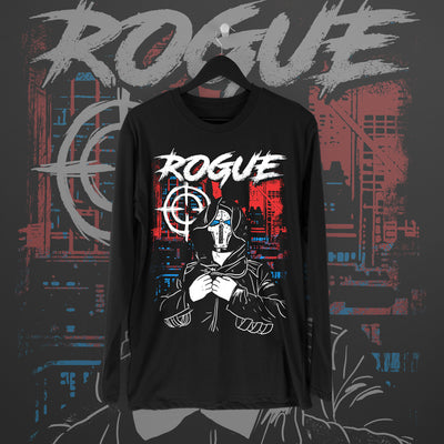 Damian Black: Rogue Longsleeve - Pins & Knuckles Wrestling Merch United Kingdom