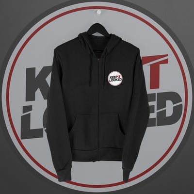 Simon Hill:  Keep It Locked Zip Hoodie - Pins & Knuckles Wrestling Merch United Kingdom