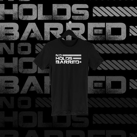 One Fall - No Holds Barred Full Print Shirt - Pins & Knuckles Wrestling Merch United Kingdom