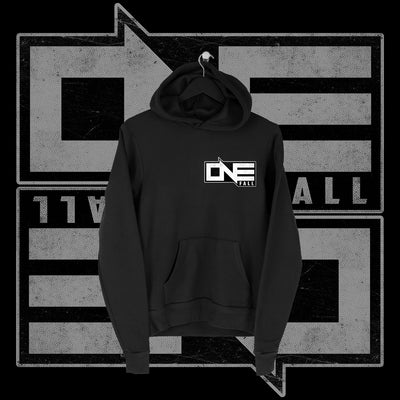 One Fall - One Fall Logo Pocket Print Hoodie - Pins & Knuckles Wrestling Merch United Kingdom