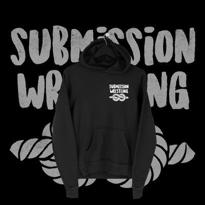 One Fall - Submission Wrestling Pocket Print Hoodie - Pins & Knuckles Wrestling Merch United Kingdom