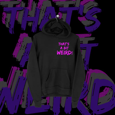 One Fall - That's A Bit Weird Pocket Print Hoodie - Pins & Knuckles Wrestling Merch United Kingdom
