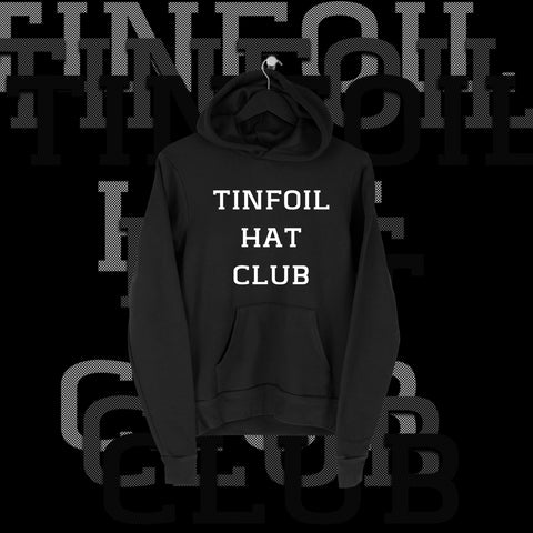 One Fall - Tin Foil Hat Club Full Print Hoodie - Pins & Knuckles Wrestling Merch United Kingdom