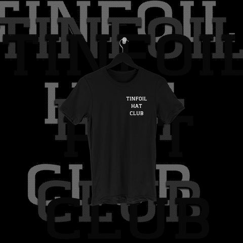One Fall - Tin Foil Hat Club Pocket Print Shirt - Pins & Knuckles Wrestling Merch United Kingdom