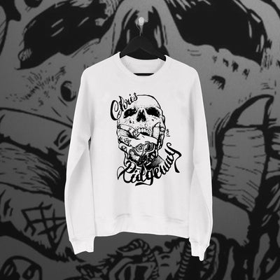 Chris Ridgeway: Skull Sweater - Pins & Knuckles Wrestling Merch United Kingdom