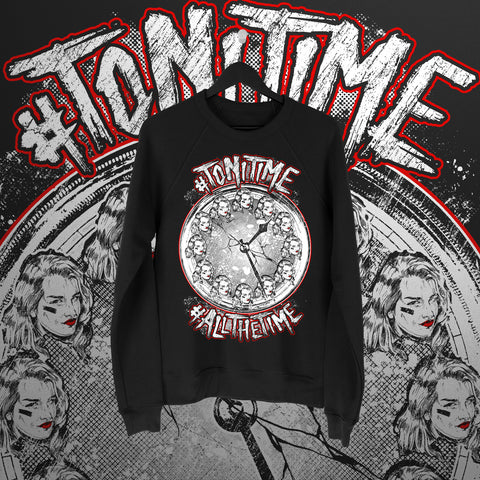 Toni Storm:  Toni Time Sweater - Pins & Knuckles Wrestling Merch United Kingdom