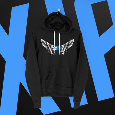 Xia Brookside: Winged Emblem Hoodie - Pins & Knuckles Wrestling Merch United Kingdom