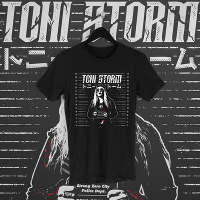 Toni Storm: Mugshot Tee - Pins & Knuckles Wrestling Merch United Kingdom