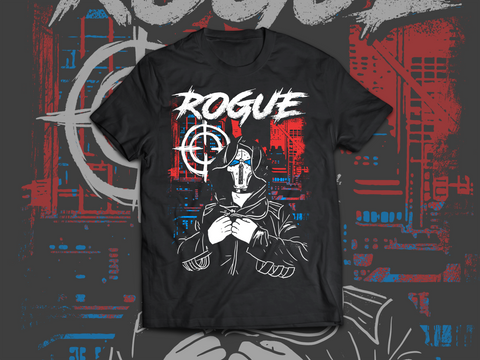 Damian Black: Rogue T-Shirt - Pins & Knuckles Wrestling Merch United Kingdom