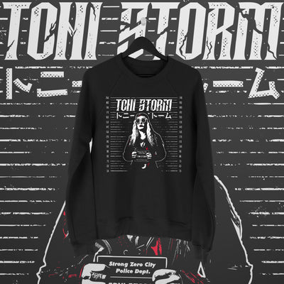 Toni Storm: Mugshot Sweater - Pins & Knuckles Wrestling Merch United Kingdom