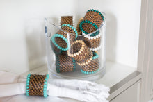 Load image into Gallery viewer, Woven Beaded Napkin Rings (Set of 4)