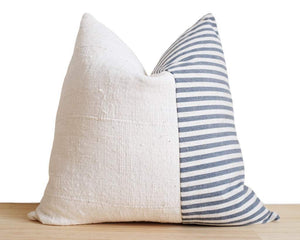Striped Mudcloth Pillow Cover