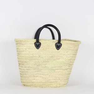 French Market Tote with Leather Handles
