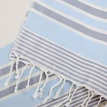 Load image into Gallery viewer, Multi Color Stripe Turkish Towel