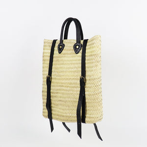 Palm Backpack with Leather Straps