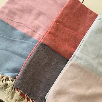 Color Block Turkish Towels