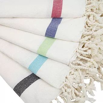 Turkish Towel with Single Color Stripe