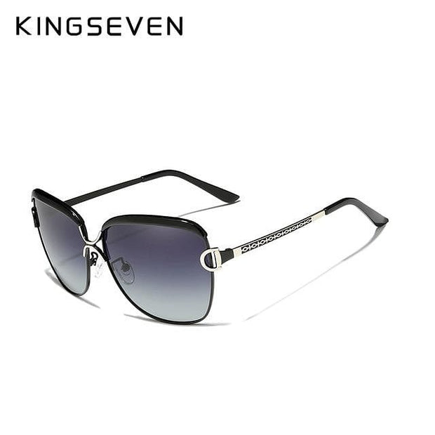KINGSEVEN 2020 Women's Glasses Luxury Brand Sunglasses Gradient Polarized Lens Round Sun glasses - Verde Limon Panama