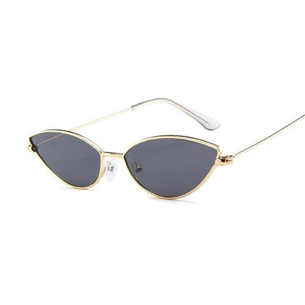 Cute Sexy Cat Eye Sunglasses Women Retro Small  Shades For Women - Verde Limon Panama
