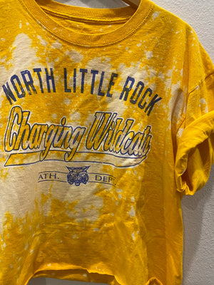 NLR Charging Wildcats Crop Tee: Size XL