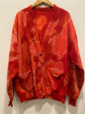 Red Button Cardigan : Size L/XL (#410)