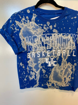 Kentucky Basketball Crop Tee : Size Small (#172)