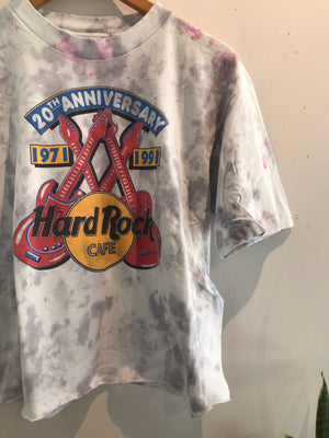 Hard Rock 20TH Anni. Tie Dye Crop Tee