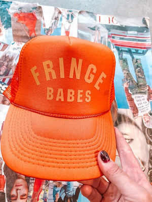 FRINGE BABES Trucker Hat - ORANGE