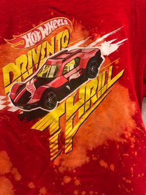 KIDS : Hot Wheels Acid Wash Full Length Tee