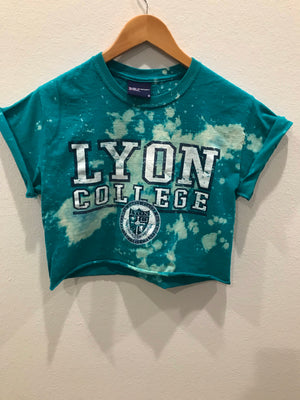 Lions College Acid Wash Crop Tee