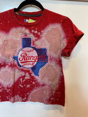 Rangers Crop Tee : Size Small (#155)