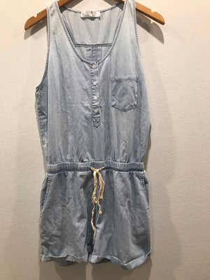 Denim Draw Strong Romper