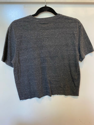 Whiskey & Motorcycles Crop Tee : Size Small (#170)