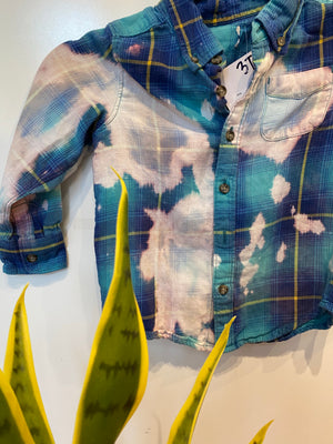 KIDS : Blue Acid Wash Flannel : 3T (#109)
