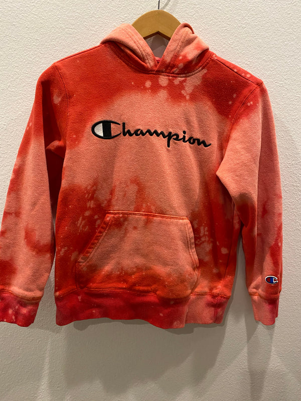 KIDS : Red Champion Hoodie Pullover  : size medium