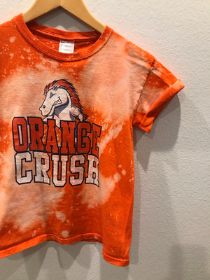 KIDS : Orange Crush Broncos Acid Wash Full Length Tee