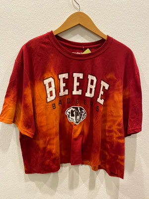 Bebe Badgers Crop Tee : Size XL  (#237)