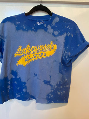 Lakewood All Stars Crop Tee : size Med  (#188)