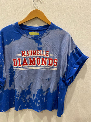 Maumelle  Diamonds Crop Jersey Tee : Size XL  (#231)