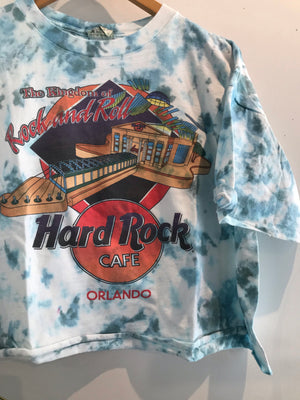 Hard Rock Orlando Tie Dye Crop Tee