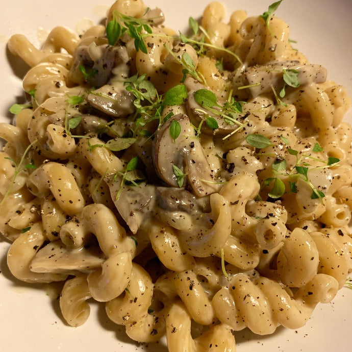 One Pot pasta med champignon