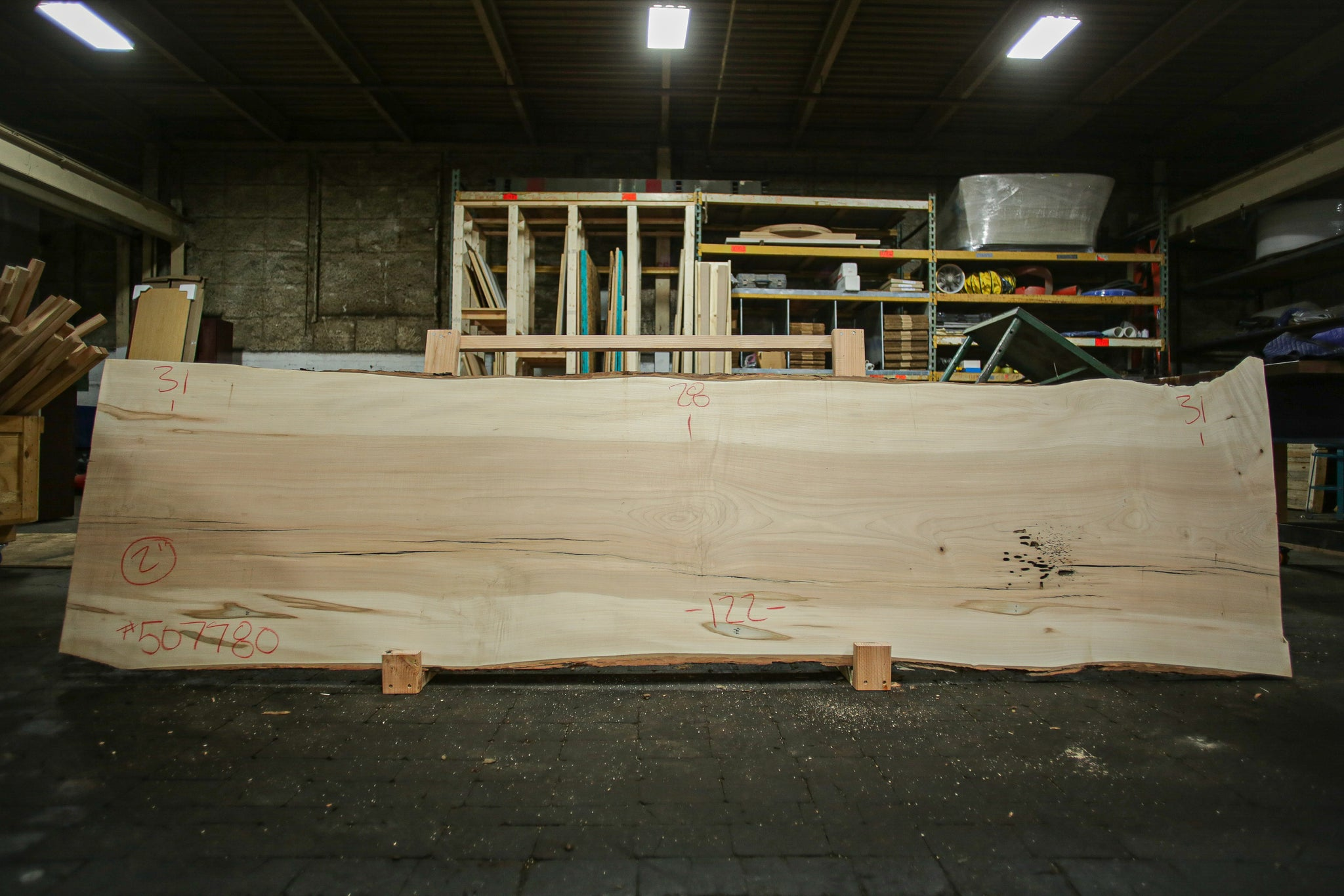 Maple Live Edge Slab 507780