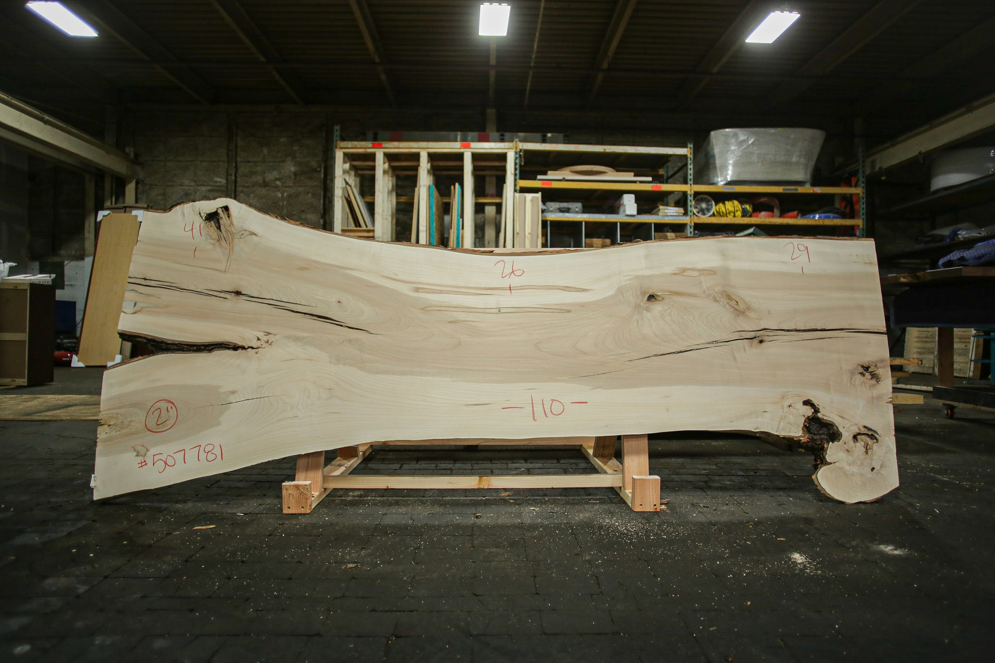 Maple Live Edge Slab 507781