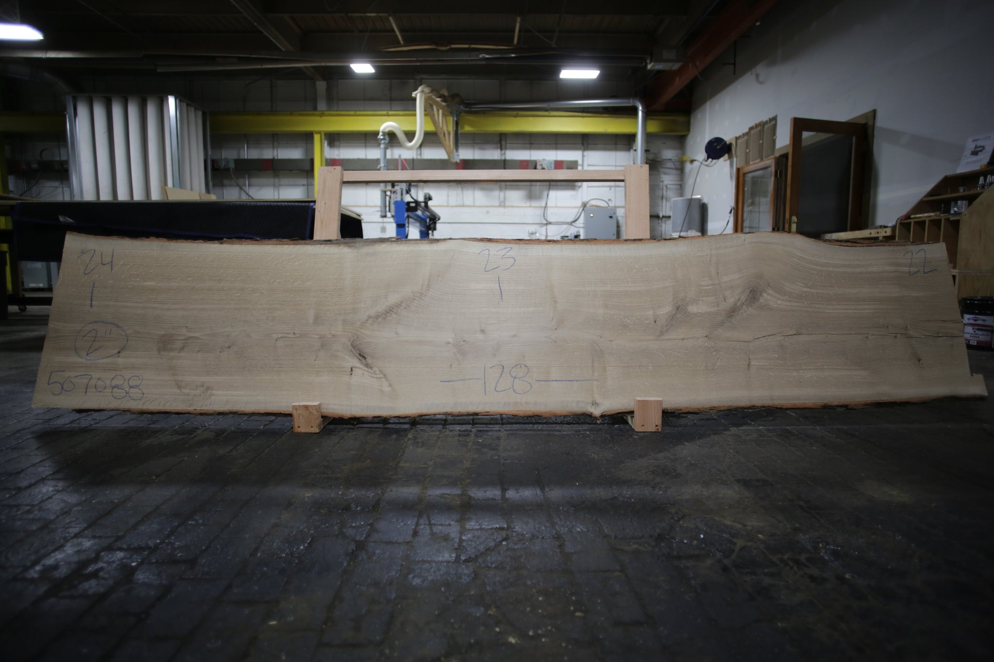 White Oak Live Edge Slab 507088
