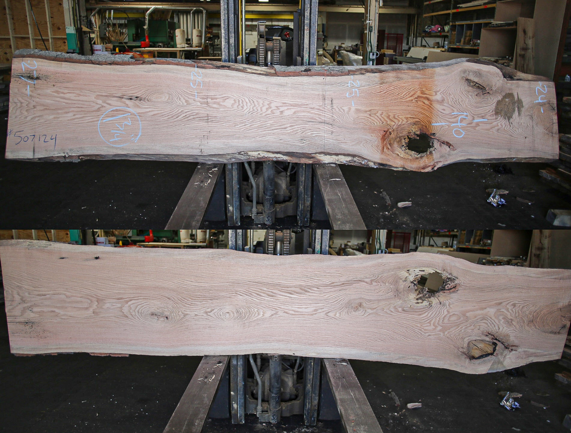 Red Oak Live Edge Slab 507124