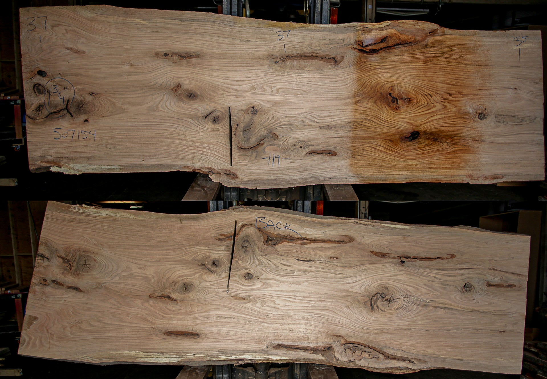 Red Oak Live Edge Slab 507154