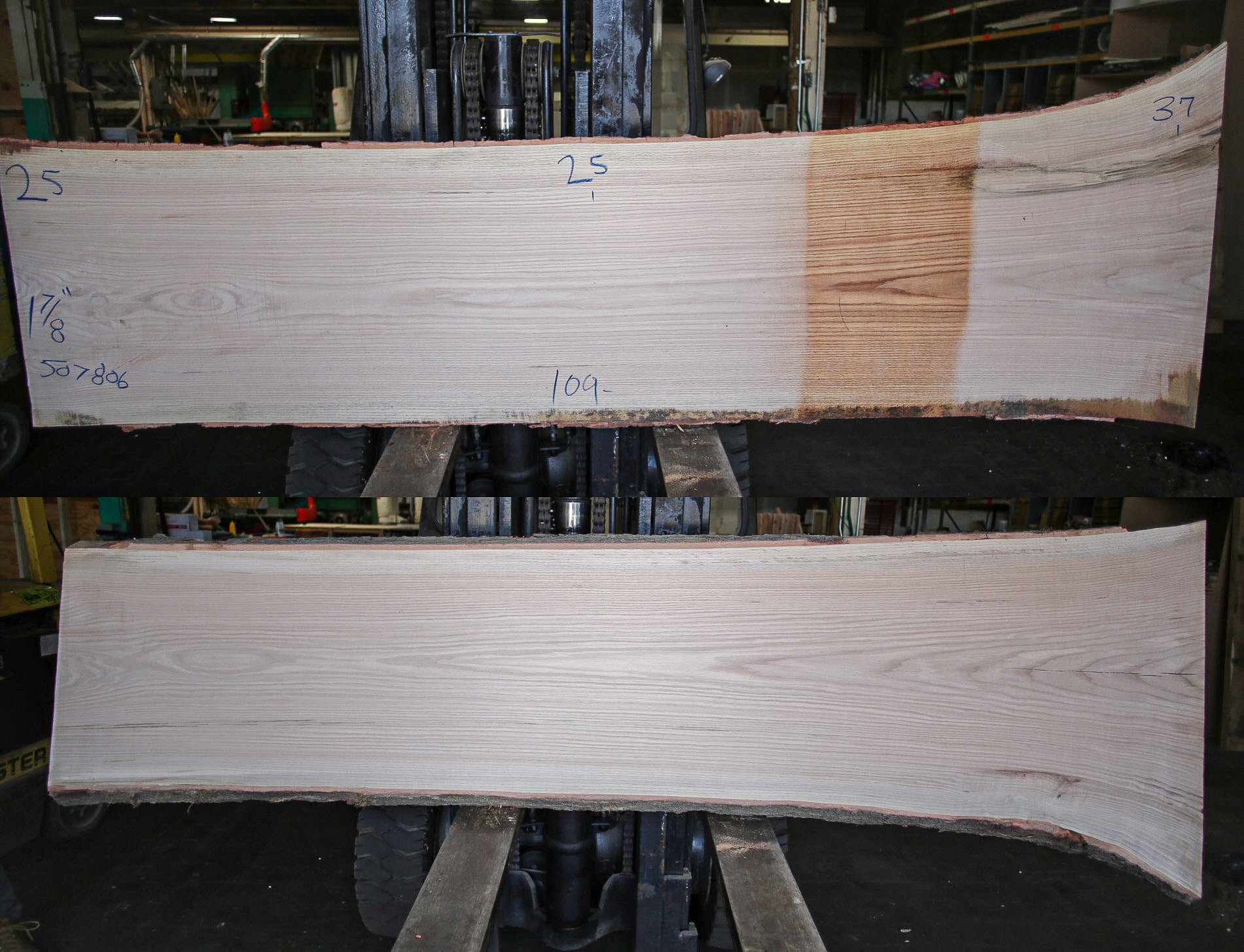 Red Oak Live Edge Slab 507806