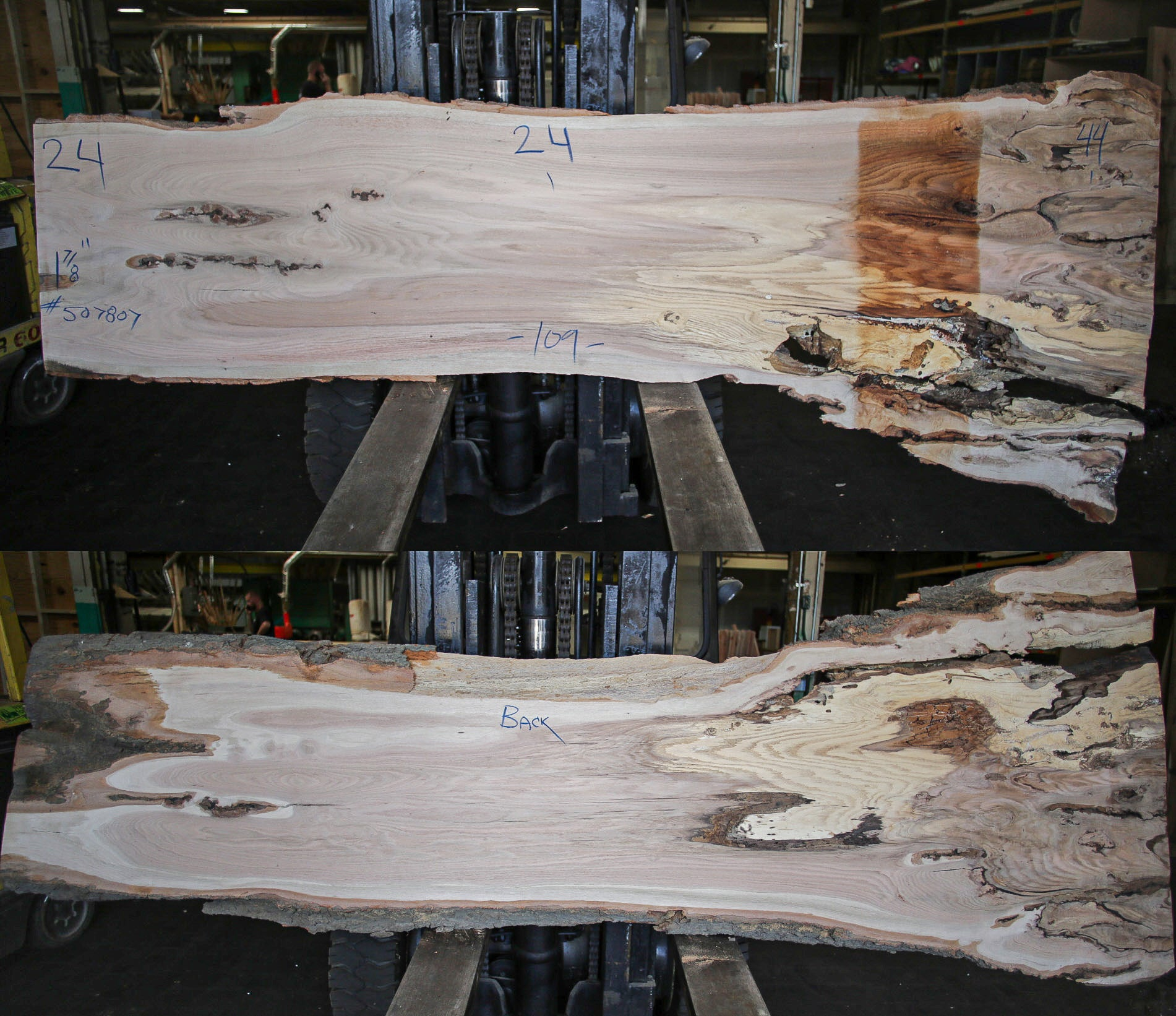 Red Oak Live Edge Slab 507807