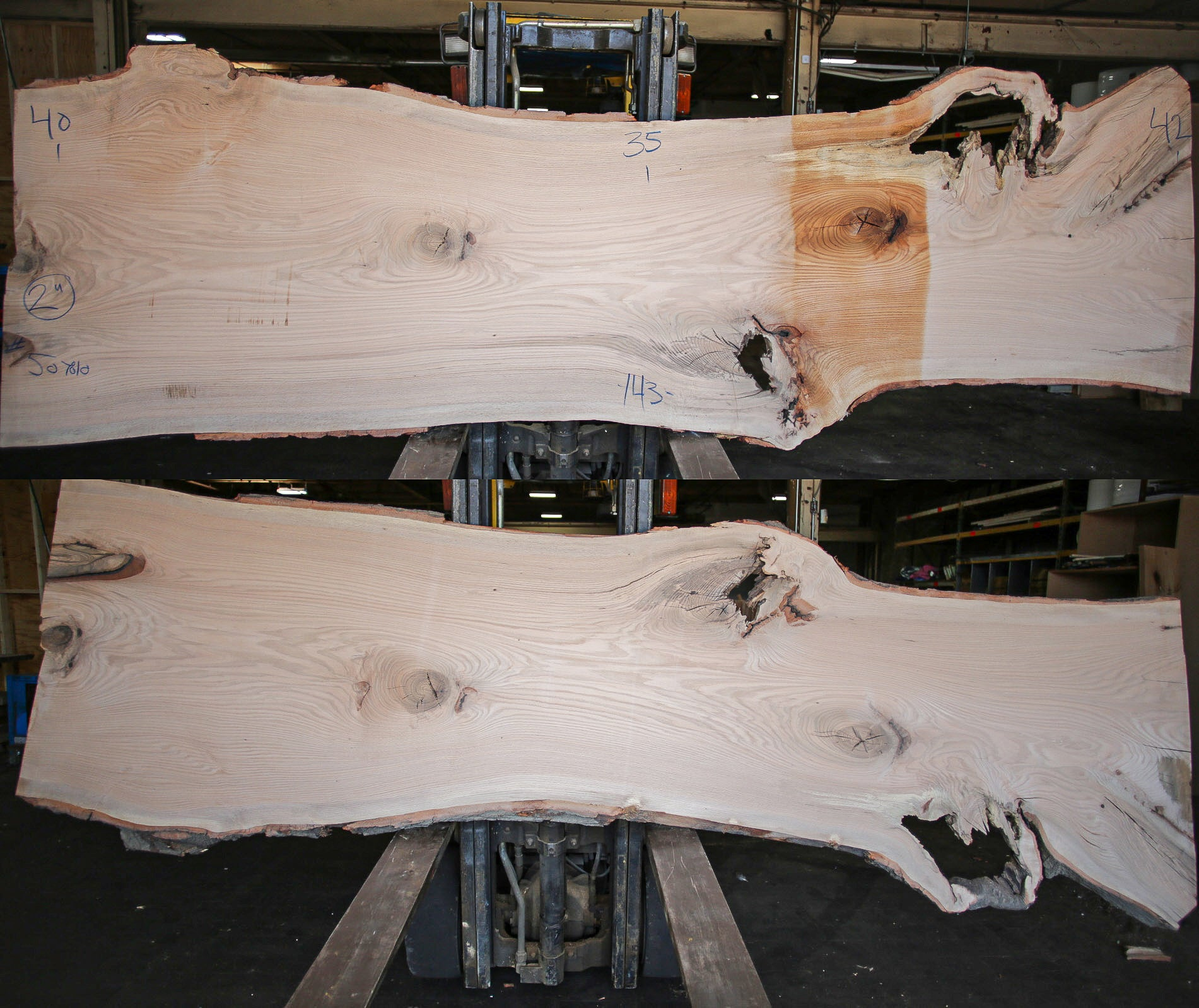 Red Oak Live Edge Slab 507810